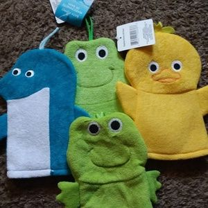 4 Bath Puppets for little ones